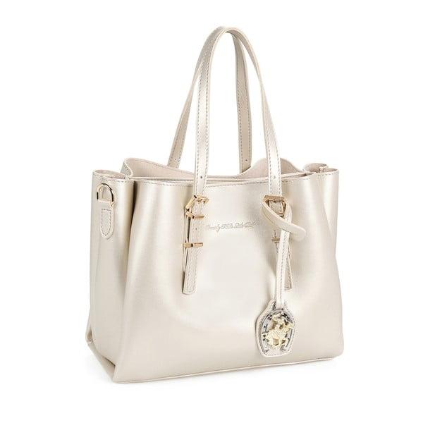 Krémová kabelka se zlatými odlesky Beverly Hills Polo Club Alicia