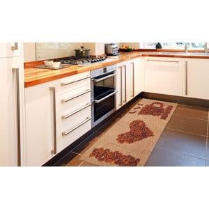 Vysoce odolný kuchyňský koberec Webtappeti Love Coffee, 60x150 cm