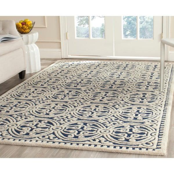 Vlněný koberec Marina Navy, 243x304 cm