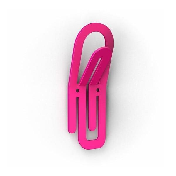 Růžové háčky Clip, 2 ks