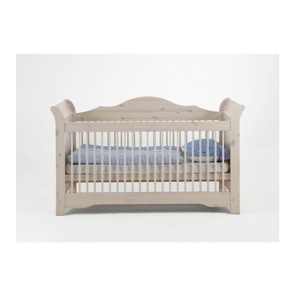 Lotta tejfehér állítható gyerekágy, 70 x 140 cm - Steens
