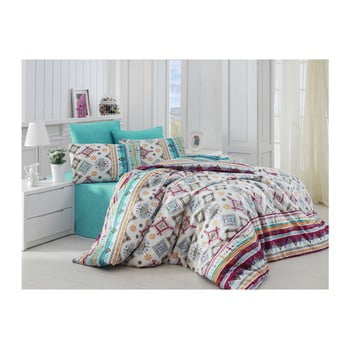 Lenjerie de pat cu cearșaf Keysy, 200x220cm de la Nazenin Home