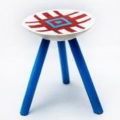 Ručně malovaná stolička Lunca, 38 cm