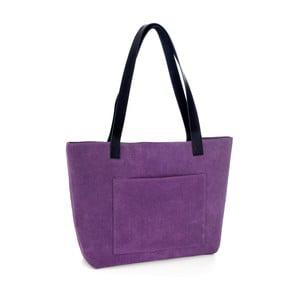 Fialová kožená kabelka Woox Rostellum