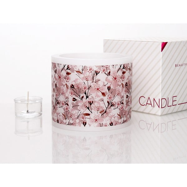 Kruhový svícen na čajovou svíčku Floral I