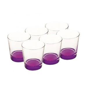 Sada skleniček 340 ml, fialové