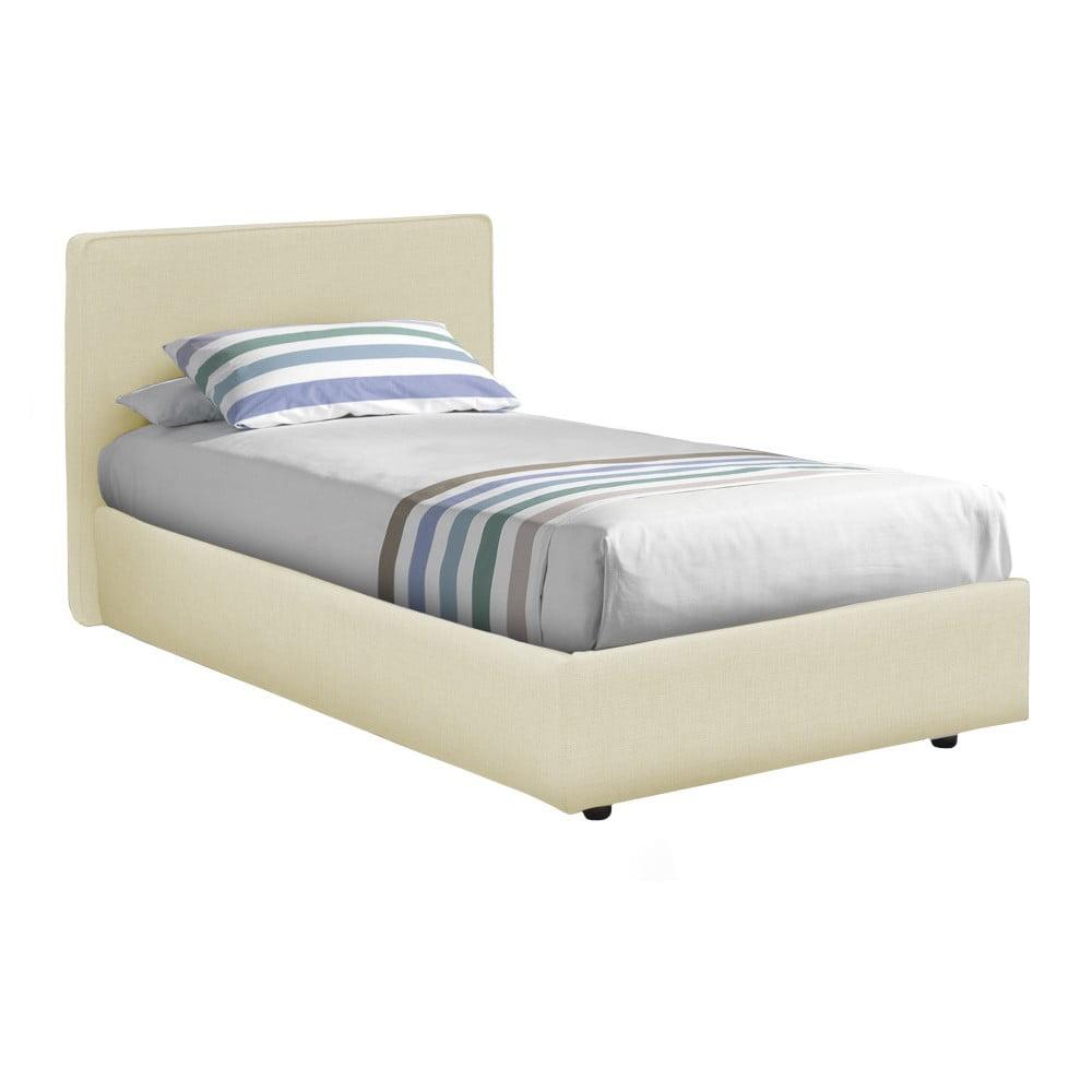 Béžová jednolůžková postel 13Casa Ninfea, 80 x 190 cm