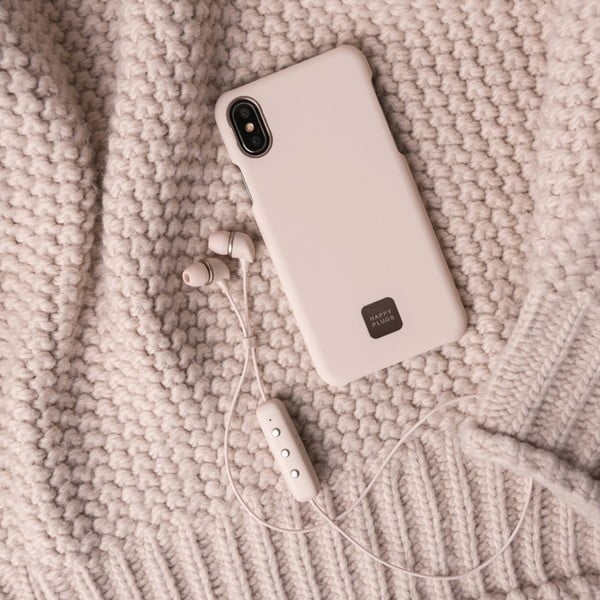 Husă telefon pentru iPhone X și XS Happy Plugs Slim, bej