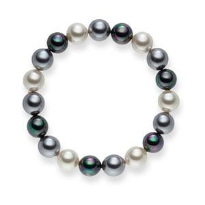 Perlový náramek Nova Pearls Copenhagen Brigitte Dark, délka 19 cm