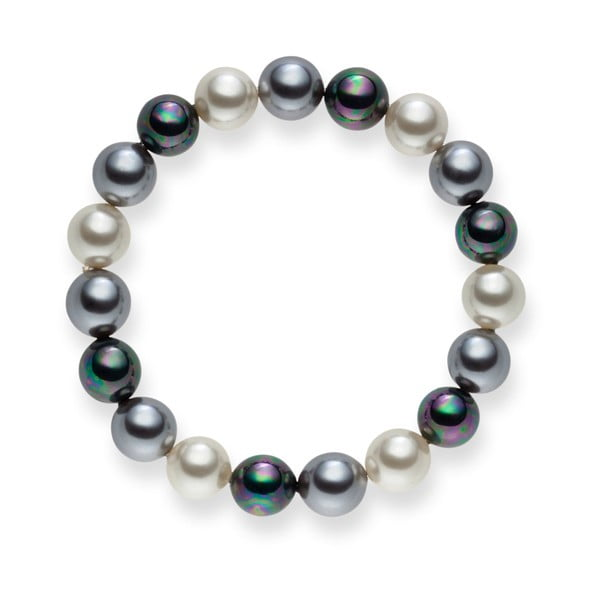 Perlový náramek Nova Pearls Copenhagen Brigitte Dark