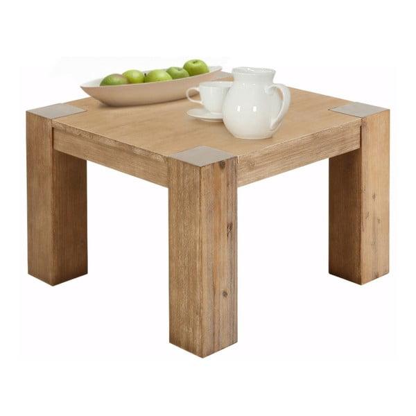 Odkládací stolek z akáciového dřeva Støraa Mabel, 70x70cm
