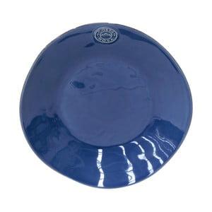 Modrý kameninový polévkový talíř Costa Nova Denim, ⌀25cm