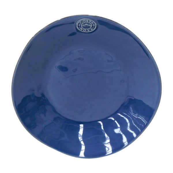 Tmavě modrý kameninový polévkový talíř Costa Nova Nova, ⌀25cm