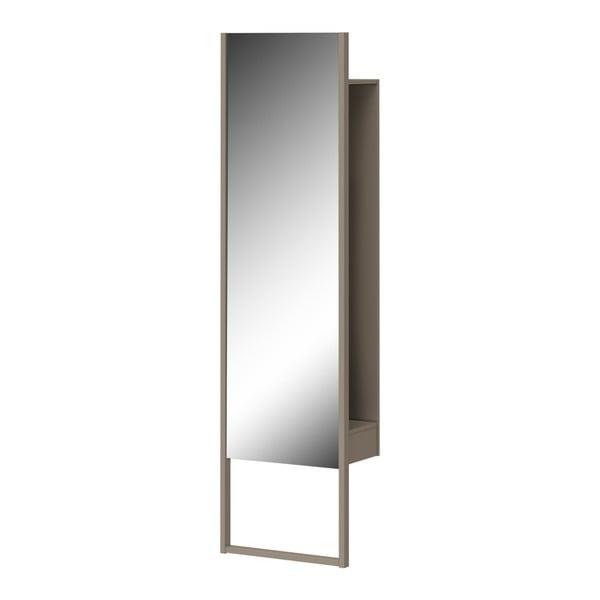 Stojací zrcadlo s policí a šedým rámem Germania Monteo, výška194cm