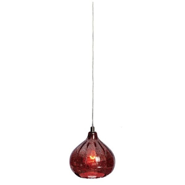 Stropní lampa Bombay, červená
