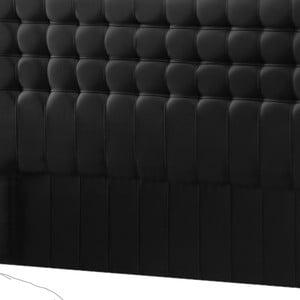 Černé čelo postele Novative Sylphyde, 140 x 118 cm
