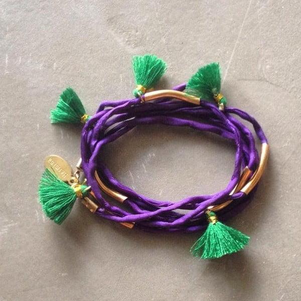 Dlouhý náhrdelník/náramek Kasbah Purple