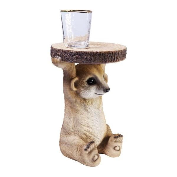 Odkládací stolek ve tvaru zvířete Kare Design Mongoose, Ø 35 cm