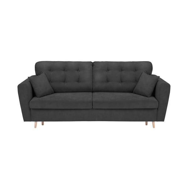 Grenoble sötétszürke háromszemélyes kinyitható kanapé tárolóhellyel - Cosmopolitan Design