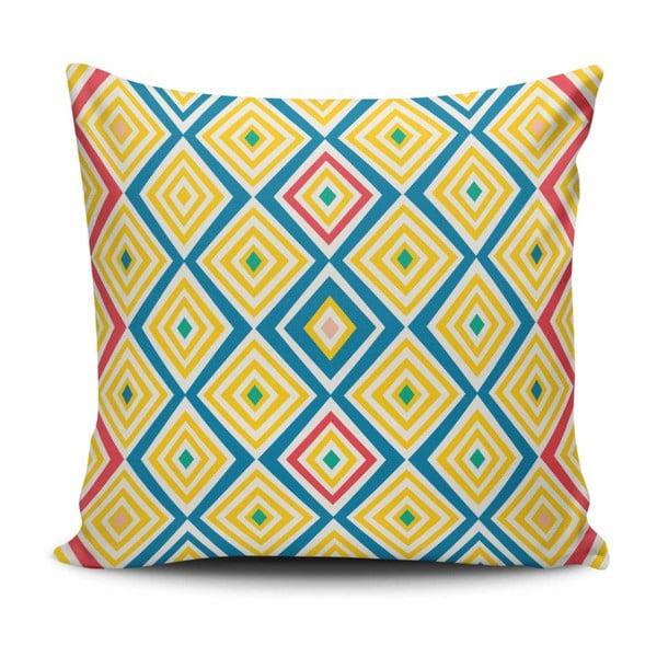 Polštář s příměsí bavlny Cushion Love Geometrico, 45 x 45 cm