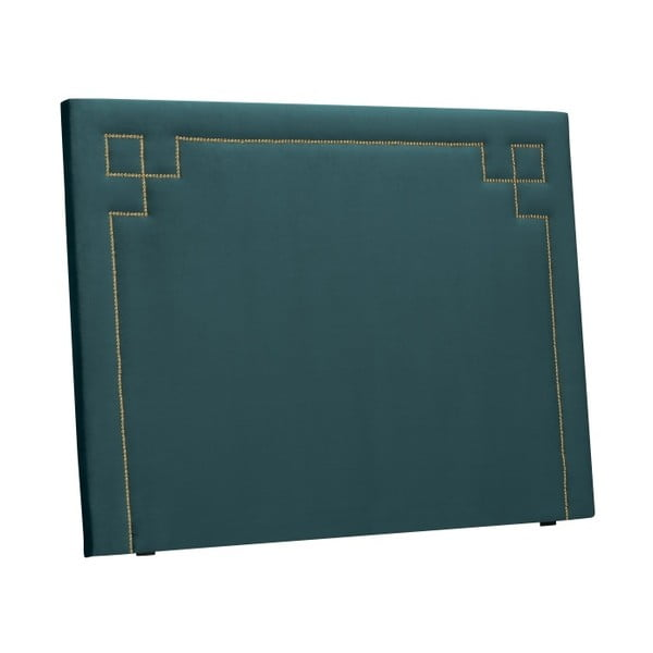 Petrolejově zelené čelo postele THE CLASSIC LIVING Nicolas, 120 x 180 cm