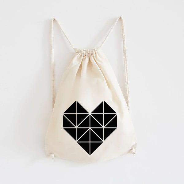 Plátěný batoh Origami Herz