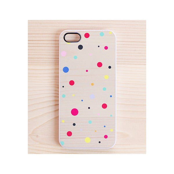 Obal na iPhone 5, Joyful Colourful Dots, bílý