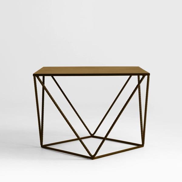 Daryl aranyszínű tárolóasztal, 55 x 55 cm - Custom Form