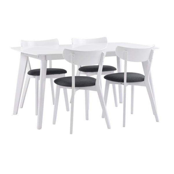 Bílý dřevěný jídelní stůl Folke Sanna,délka150 cm