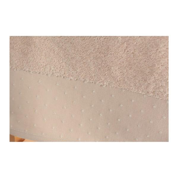 Sada 2 pudrově růžových osušek ze 100% bavlny Patricik, 90x150cm
