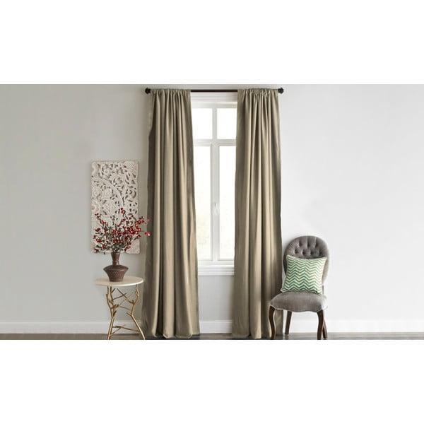 Brązowa zasłona Home De Bleu Blackout Curtain, 140x240cm