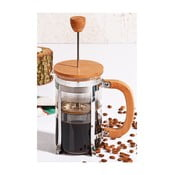 French press cu capac din bambus Bisous, 600 ml