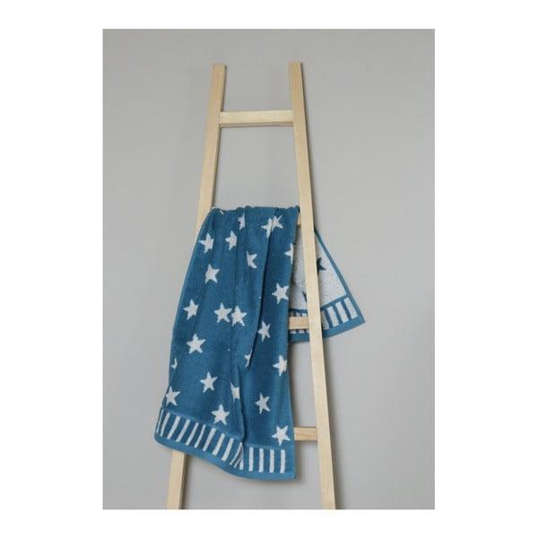 Tyrkysový bavlněný ručník My Home Plus Stars, 50 x 90 cm