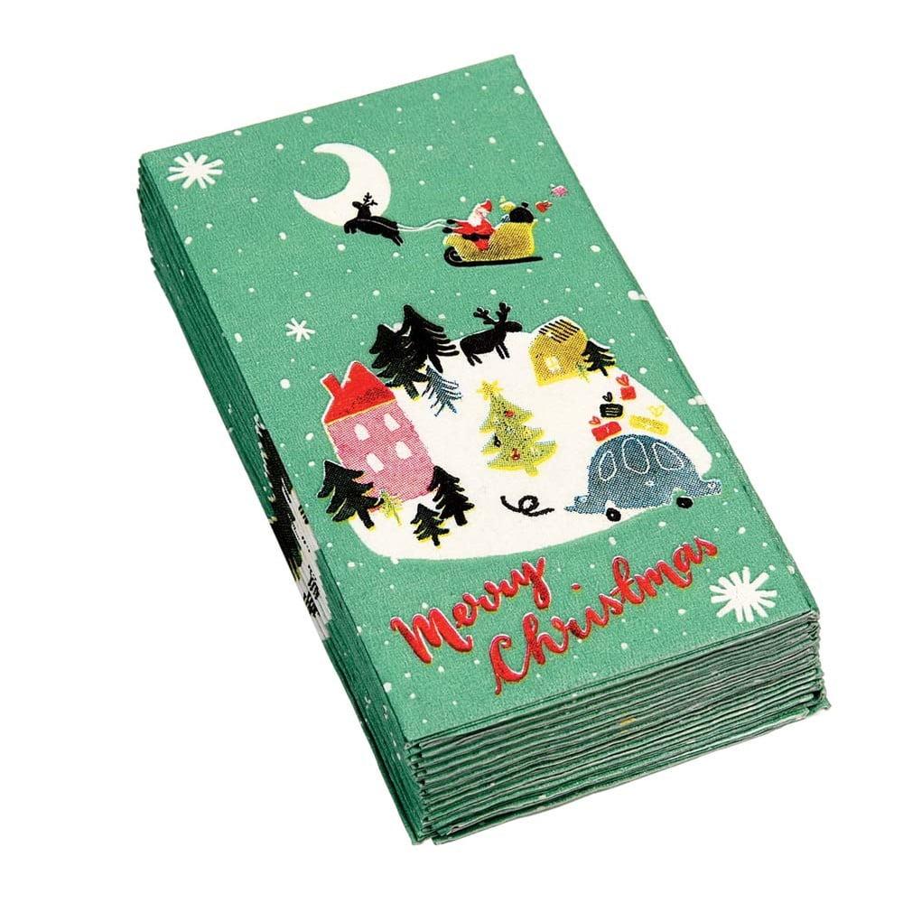 Sada 12 vánočních ubrousků Rex London Christmas Wonderland