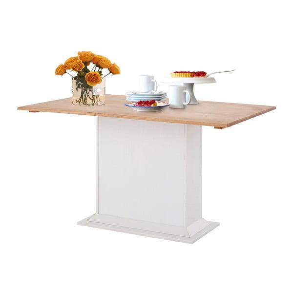 Silas fehér meghosszabbítható étkezőasztal borovi fenyőből - Støraa