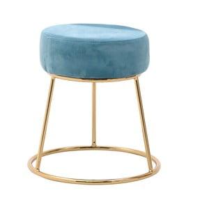 Modrá stolička InArt Velvet Society, výška46cm