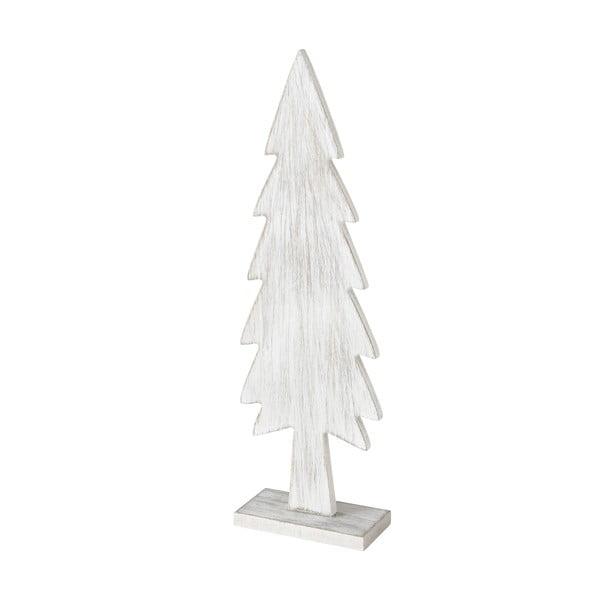 Biała dekoracja świąteczna w kształcie choinki Boltze Tiago