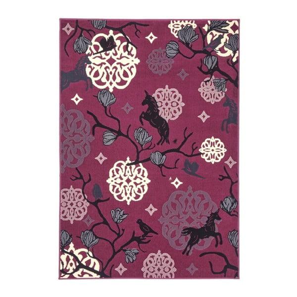 Dětský fialový koberec Zala Living Unicorn, 140x200cm