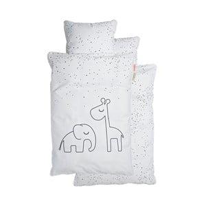 Bílé dětské povlečení Done by Deer Dreamy Dots, 70x100cm