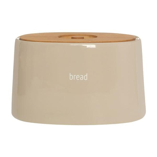 Recipient pentru pâine cu capac din lemn de bambus Premier Housewares Fletcher, 7,7 l, crem