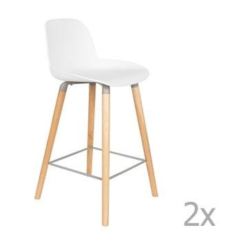 Set 2 scaune bar Zuiver Albert Kuip, înălțime scaun 65cm, alb de la Zuiver