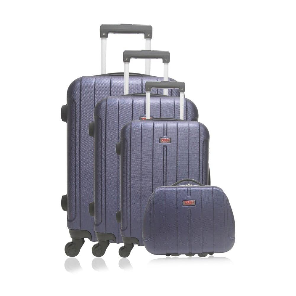 Sada 4 modrých cestovních kufrů na kolečkách Hero Fogo-C