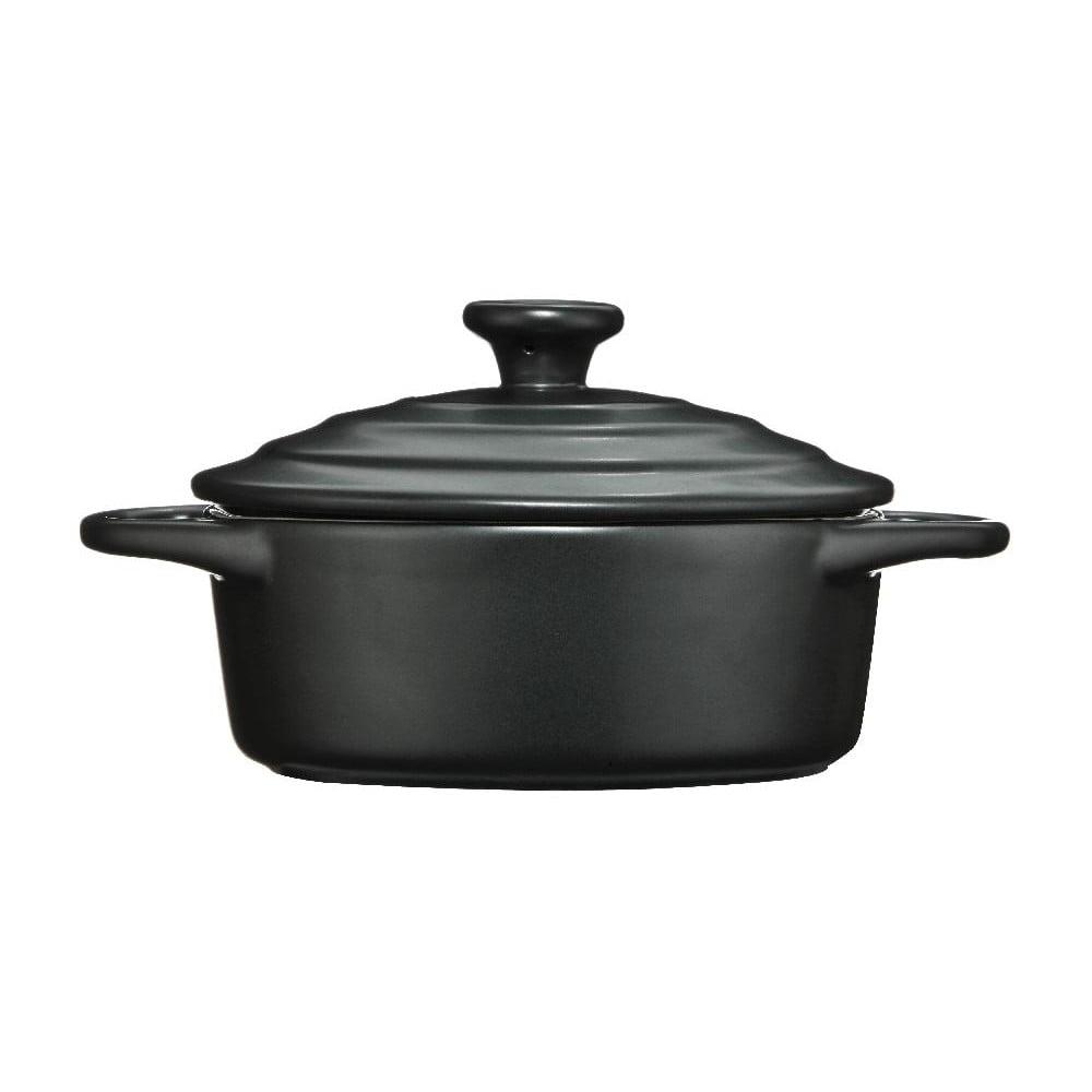 Černý kameninový hrnec Premier Housewares, 600 ml