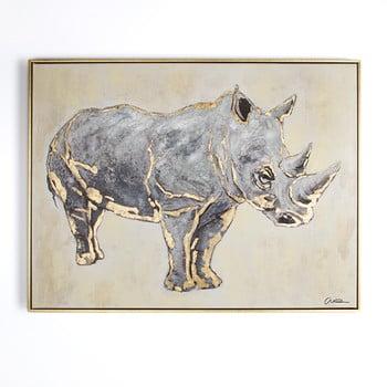 Tablou Pictat Manual Graham & Brown Rhino, 80 X 60 Cm