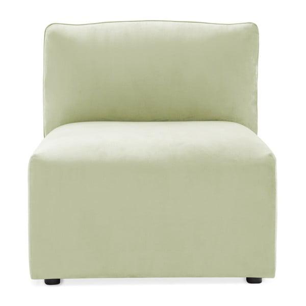 Modul de mijloc pentru canapea Vivonita Velvet Cube, verde deschis