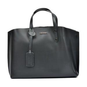 Černá kožená kabelka Luisa Vannini Teresa
