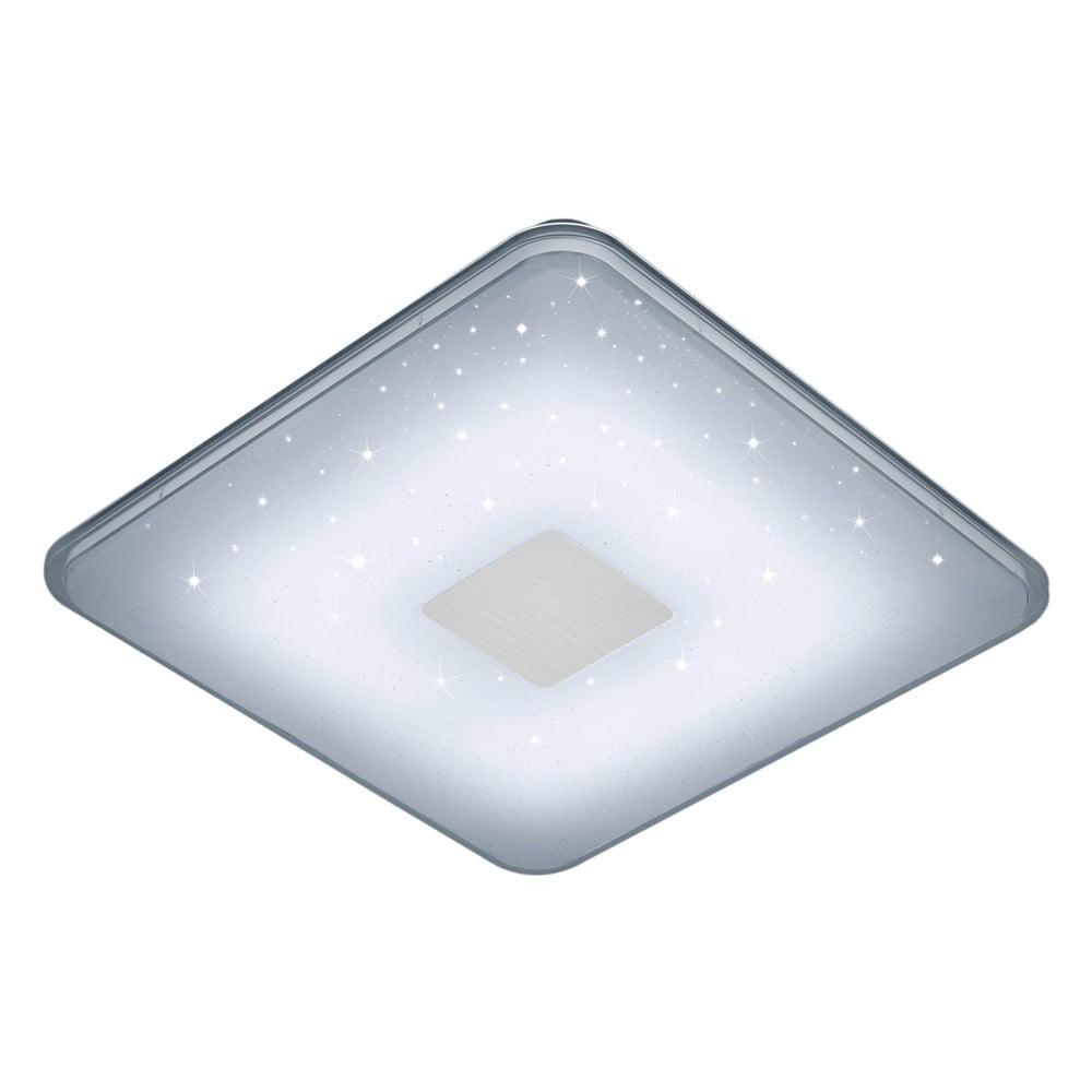 Bílé čtvercové stropní LED svítidlo na dálkové ovládání Trio Ceiling, 42,5 x 42,5 cm