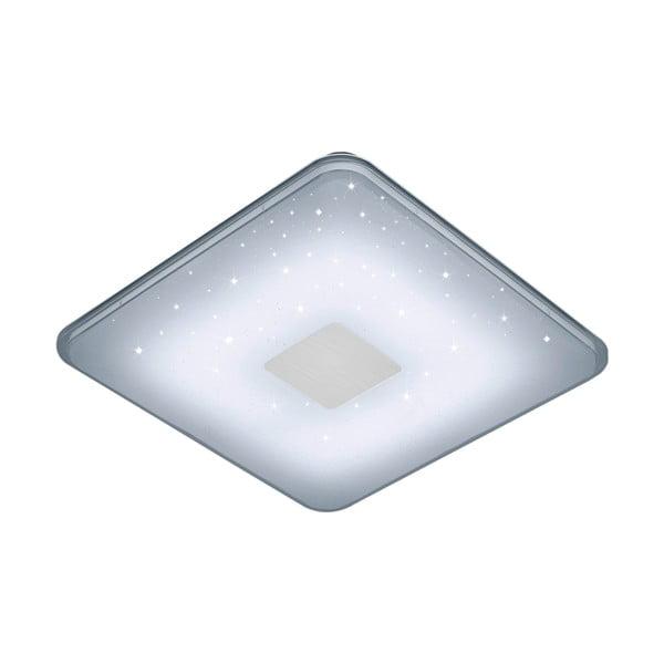 Biała kwadratowa lampa sufitowa LED sterowana zdalnie Trio Ceiling, 42,5x42,5 cm