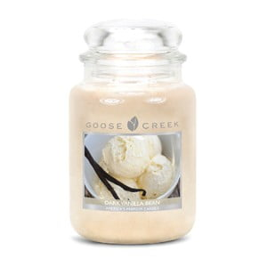Vonná svíčka ve skleněné dóze Goose Creek Tmavé vanilkové fazole, 0,68 kg