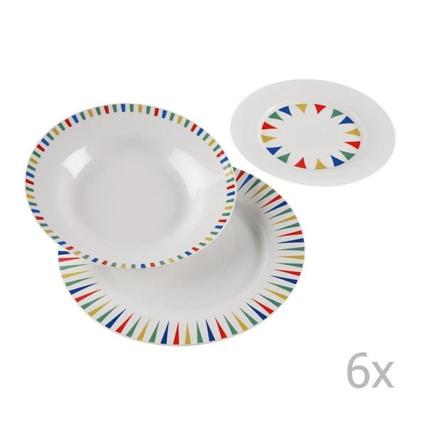 Vajilla Geometrica 18 darabos porcelán tányérkészlet - Versa